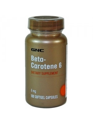 Beta Carotene 6 mg. 100 capsules