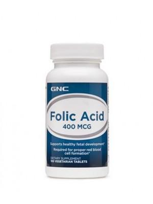 Folic Acid 400 mcg. 100 tablets