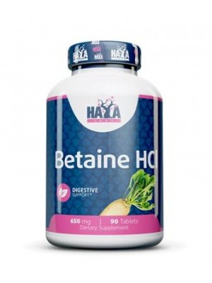 Betaine HCI 650 mg. 90 tablets